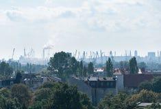 Smog over city of Gdansk, Poland Stock Photography