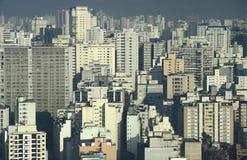 Smog pollution and skyscrapers, São Paulo, Brazil. Royalty Free Stock Photo