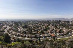 Smog Porter Ranch Streets di Los Angeles Immagine Stock Libera da Diritti