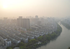 Smog problem in China Royalty Free Stock Images