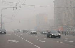 Smog in Prospekt Mira Royalty Free Stock Photos