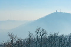 Smog settled over Budapest, Hungary on 21th January2017 Royalty Free Stock Images