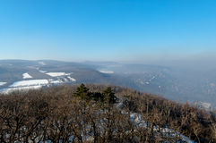 Smog settled over Budapest, Hungary on 21th January2017 Stock Photos