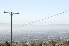 Smog town. Shot of smog in the valley Stock Photography
