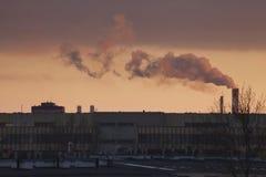 Smog a Varsavia, Polonia Fotografia Stock Libera da Diritti