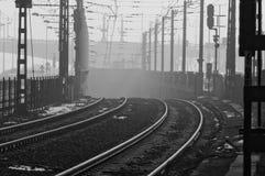 Smog vereinbart über Budapest stockbilder