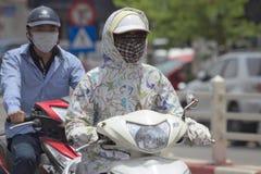 Smog w Hanoi Zdjęcie Stock