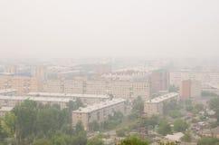 Smog w miasteczku zdjęcia stock