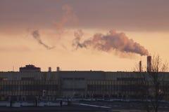 Smog w Warszawa, Polska Obraz Royalty Free
