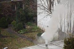 Smog w Warszawa, Polska Zdjęcie Stock