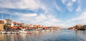 Smogen,瑞典,小游艇船坞 库存照片