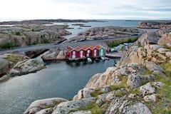 Smogen is een kleine vissersstad Royalty-vrije Stock Afbeelding