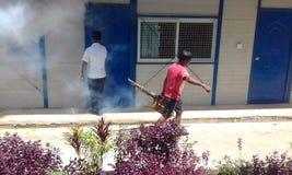 Smogging per impedisce la febbre rompiossa immagine stock libera da diritti