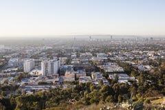Smoggy dimmiga Los Angeles Arkivfoton