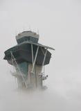 smoggy flygplats Royaltyfria Bilder