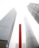Smoggy Shanghai stock fotografie