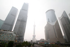 Smoggy Shanghai Stock Photography