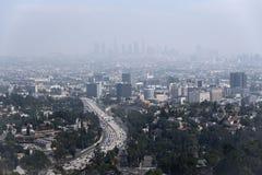 Smoggy Stadt lizenzfreies stockbild
