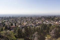 Smogu przedmieście w Los Angeles Kalifornia Obrazy Stock