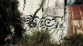 Smoków graffiti obrazy stock