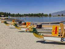 Smok łódź przy Santa Fe Grobelnym Rekreacyjnym terenem obraz royalty free