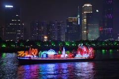 Smok łódź w Guangzhou Chiny zdjęcie stock