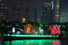 Smok łódź w Guangzhou Chiny obrazy royalty free