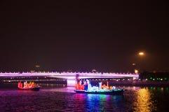 Smok łódź w Guangzhou kantonie Chiny zdjęcie stock