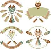 Smok łodzi festiwalu logo ikony projekta ilustracja obraz royalty free