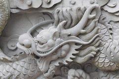 smok chińska ściana Obraz Stock