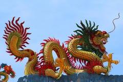 smok chińska rzeźba Fotografia Stock