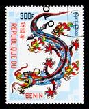 Smok, Chiński nowy rok - rok smoka seria około 2000, Obraz Royalty Free