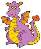 smok duży purpury ilustracji