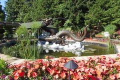 Smok fontanna Fotografia Stock