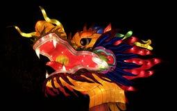 Smok głowa, Ohio Chiński Latarniowy festiwal, Kolumb, Ohio zdjęcia stock