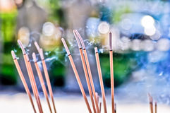 Smok of joss stick Stock Image