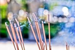 Smok of joss stick. Smok of  joss stick  for praying  at the temple Stock Image