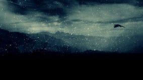 Smok komarnica Pod Śnieżną burzą Nad góry zbiory wideo
