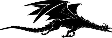 Smok Lata Bocznego widok ilustracja wektor