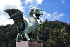smok Ljubljana Slovenia najwięcej zmajski Fotografia Royalty Free