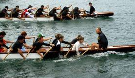 smok na łodzi Zdjęcie Royalty Free