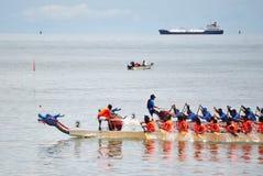 Smok łodzi konkursanci Zdjęcia Royalty Free