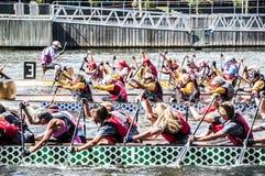 Smok łodzi Regatta Zdjęcie Stock