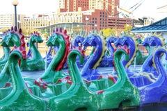 Smok łodzie Obrazy Royalty Free