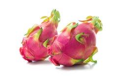 Smok owocowy Pitaya, Pitahaya odizolowywał na bielu Zdjęcie Stock