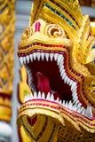 Smok rzeźba Wata Chedi Luang świątynia w Chiang Mai, Tajlandia obraz royalty free