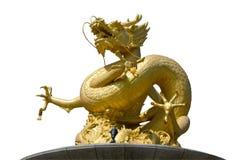 Smok rzeźby postać w Phuket Tajlandia Fotografia Stock