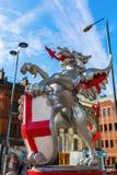 Smok statua przy Broadgate wierza w Londyn, UK Obrazy Royalty Free