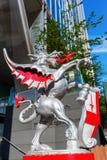 Smok statua przy Broadgate wierza w Londyn, UK Obrazy Stock