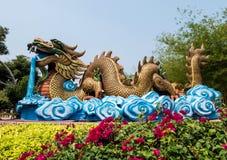 Smok statua, Supanburi, Tajlandia Zdjęcie Stock